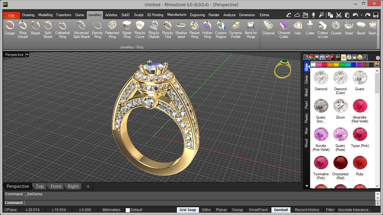 RhinoGold Impression 3D