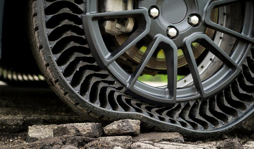 Uptis, le pneu sans air de Michelin imprimé en 3D